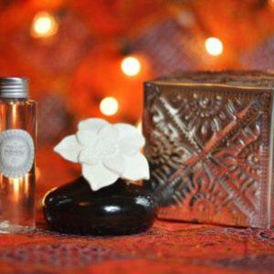 Diffuseur de Parfum d'ambiance Fleur de Bali + coffret alu fait main
