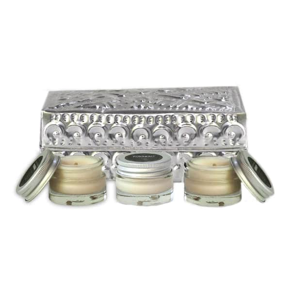coffret 3 bougies de massage individuelles purabali. Black Bedroom Furniture Sets. Home Design Ideas
