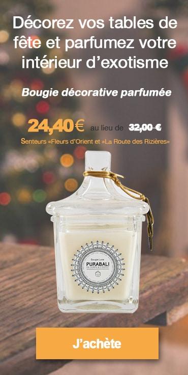 Bougie décorative parfumée Luxe