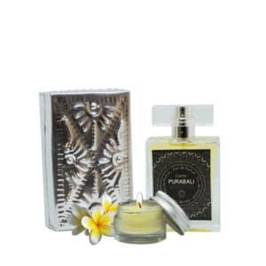 Coffret Eau de Parfum et bougies de massage