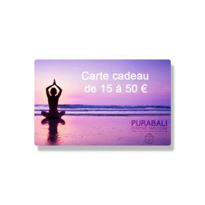 Carte cadeau de 15 à 50 €