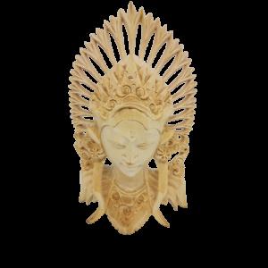 Statuette visage danseuse Balinaise en suar